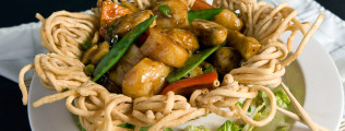Scallop-In-Noodle-Basket