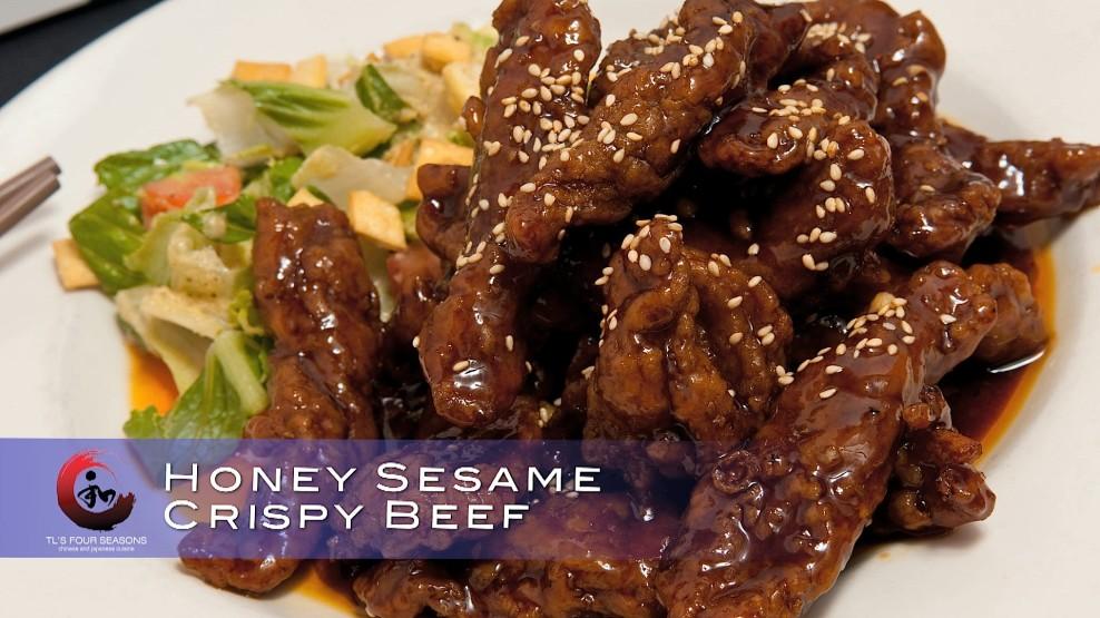 Honey sesame crispy beef