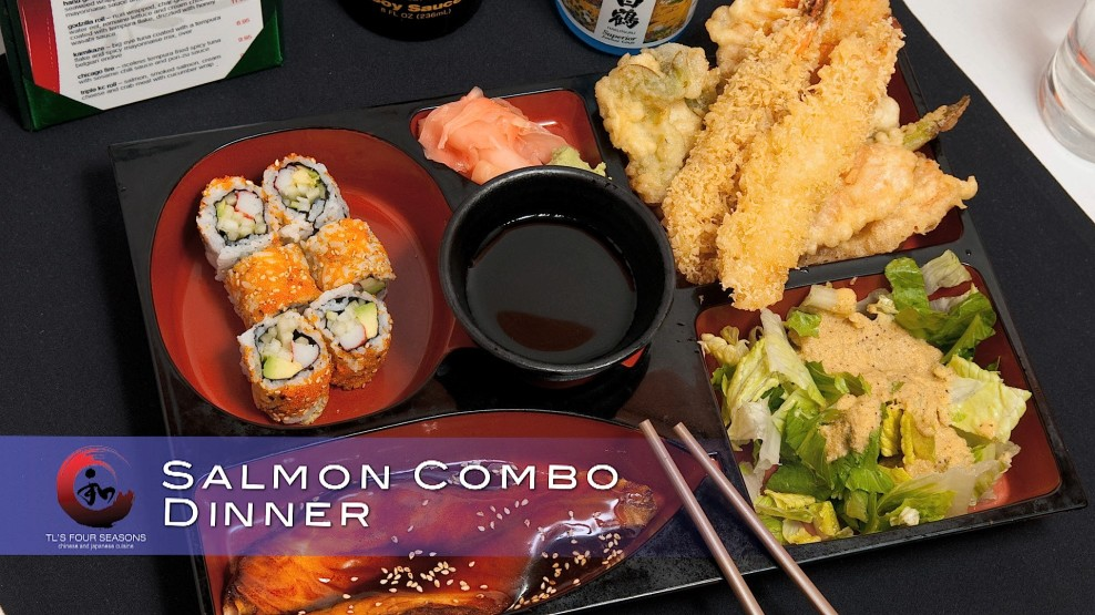 Salmon combination dinner