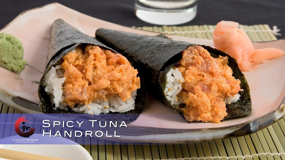 Spicy tuna handroll